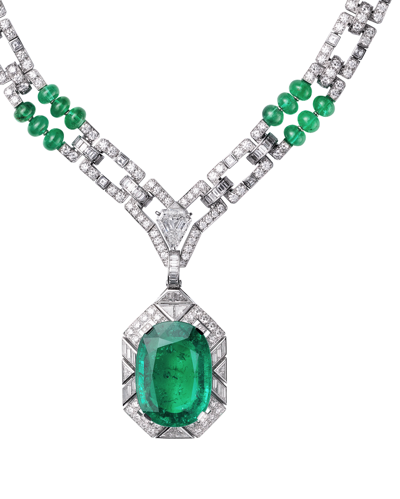 Cartier's Viracocha Necklace: an emerald with intrinsic ...