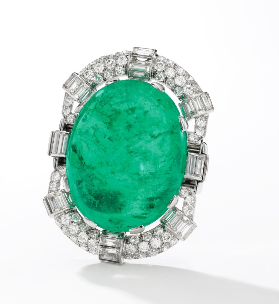 Smaragda un dimanta aproces centrs Sotheby's Magnificent Jewels & Noble Jewels Ženēvā, 15. gada 2018. maijā